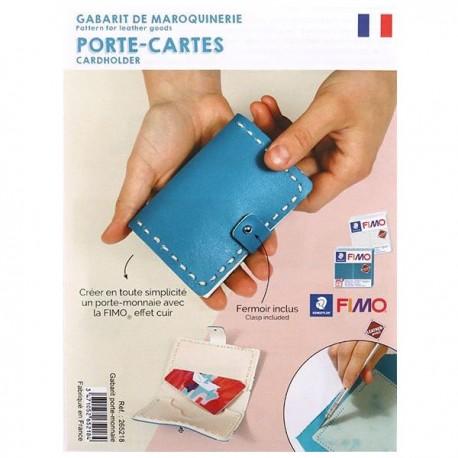 Gabarit de maroquinerie Effet Cuir porte-cartes 11 x 7,5 cm