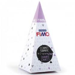 Cornet surprise Fimo - Lune et étoiles