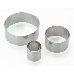 3 emporte-pièces Ronds métalliques pour pate polymère