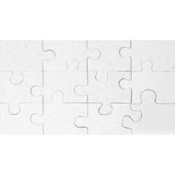 Puzzle en carton blanc àdécorer Rectangle 12 pièces