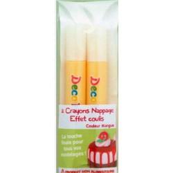 Crayons nappage Coulis Mangue pour pâte Fimo