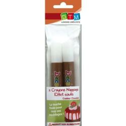 Crayons nappage Coulis Chocolat pour pâte Fimo