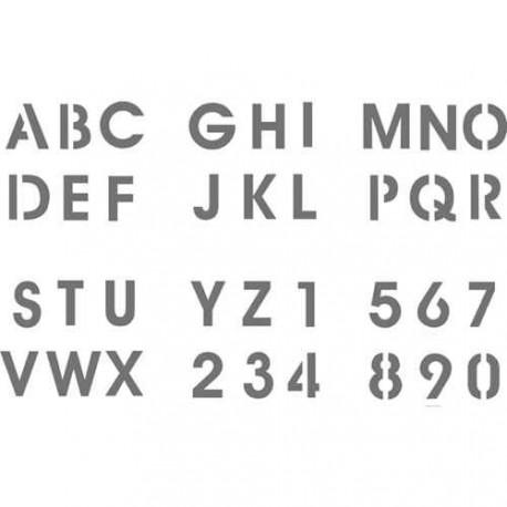 Pochoir plastique Alphabet et Chiffres