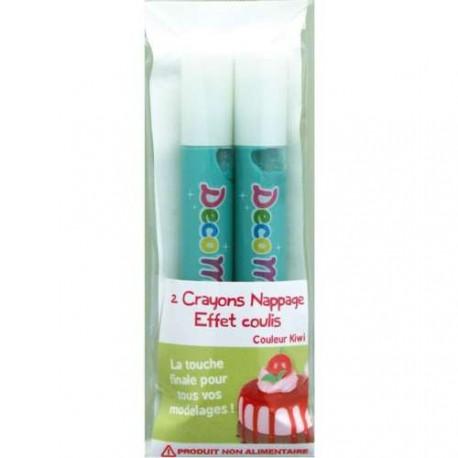 Crayons nappage Coulis Kiwi pour pâte Fimo
