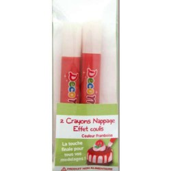 Crayons nappage Coulis Framboise pour pâte Fimo