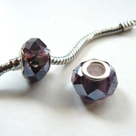 Perle à facettes Violettes style Pandora - à l'unité