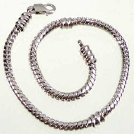 Bracelet style Pandora avec vis 20,5 cm argenté