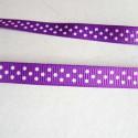 Ruban gros grain violet, 10 mm, au mètre
