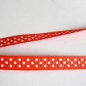 Ruban gros grain rouge, 10 mm, au mètre