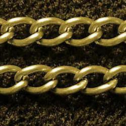 Chaîne de métal, 3 x 5 mm, bronze antique