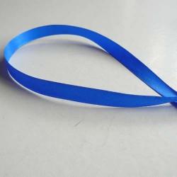 Ruban satin uni bleu foncé, 10 mm, au mètre