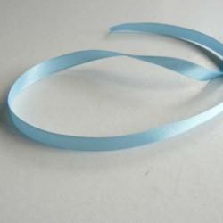 Ruban satin uni bleu clair, 10 mm, au mètre