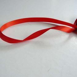 Ruban satin uni rouge, 10 mm, au mètre