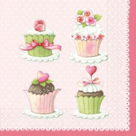 Serviettes en papier Lovely Cupcakes