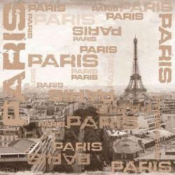 Serviettes en papier Paris