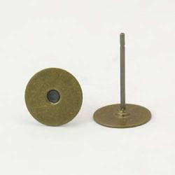 Clous d'oreille, 12 x 6 mm, bronze antique - la paire