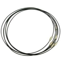 Bracelet métal couleur noir, 23cm