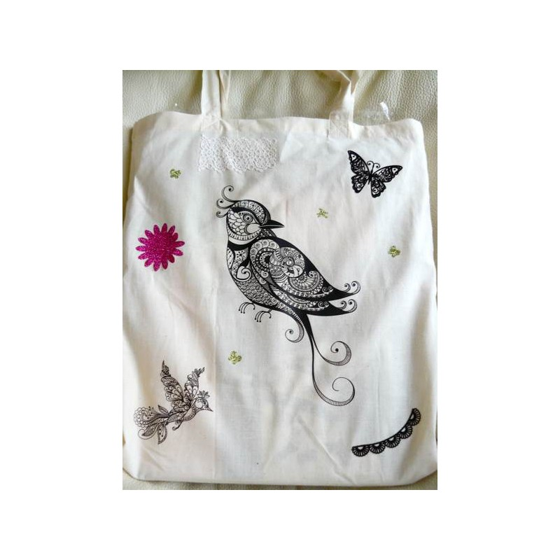 Préféré Transfert textile thermocollant Oiseau noir &IC_81