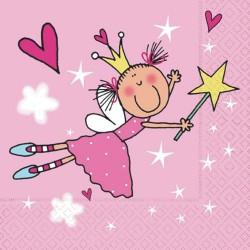 Serviettes en papier Petite Princesse
