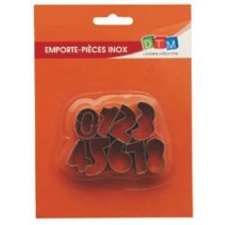 9 emporte-pièces Chiffres métalliques pour fimo