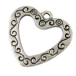 Pendentif breloque en métal Coeur arabesque