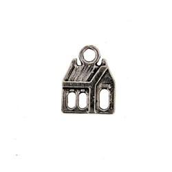 Pendentif breloque en métal Chalet