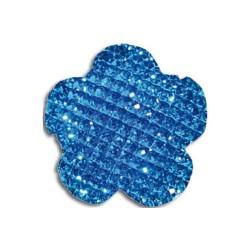 Cabochon fleur 20 mm turquoise shine