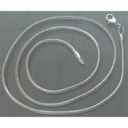 Collier 50 cm argenté clair, fin, style pandora
