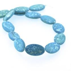 Perle Coquillage turquoise, ovale 24 mm - à l'unité