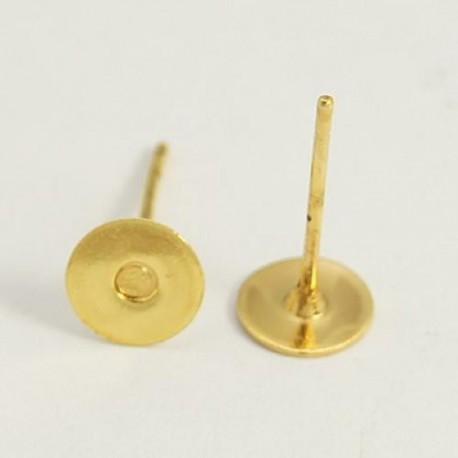 Clous d'oreille, 12 x 6 mm, doré - la paire