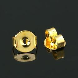 Embouts pour clous d'oreilles 5,5x4mm doré