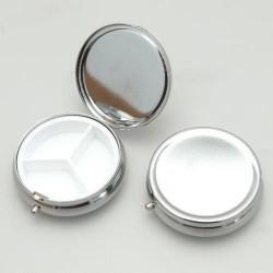Boîte ronde métallique à décorer - Grand modèle