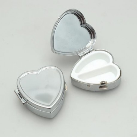 Boîte coeur métallique à décorer