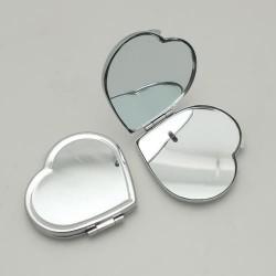 Miroir coeur métallique à décorer