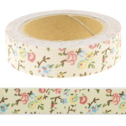 Masking Tape floral rose - 15 mm x 4 m