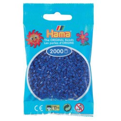 Sachet 2000 Perles Hama Mini - Bleu foncé