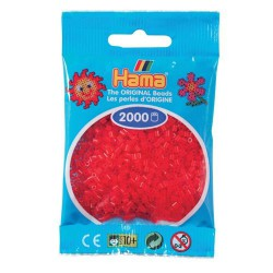 Sachet 2000 Perles Hama Mini - Rouge transparent