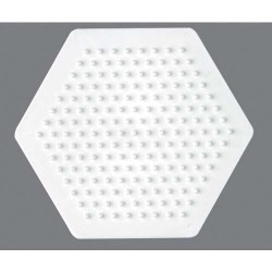 Plaque perles à repasser Hama Midi - Hexagonal Petit modèle