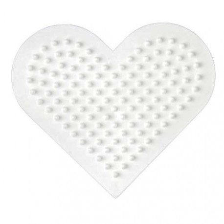 Plaque perles à repasser Hama Midi - Coeur Petit modèle