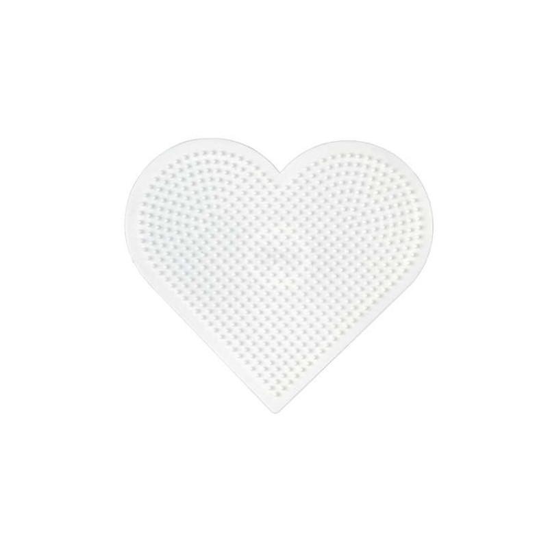 Plaque Perles à Repasser Hama Midi Coeur Grand Modèle