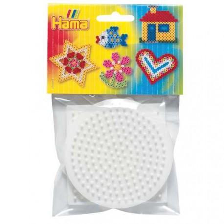 Lot 3 Plaques perles à repasser Hama Midi - Petit modèle Carré, rond, hexagonal