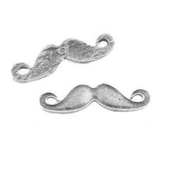Intercalaire breloque Moustache, argenté