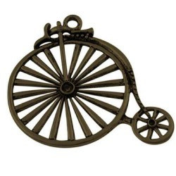 Pendentif breloque en métal Vieux vélo, bronze antique
