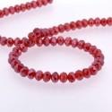 Perle de verre Cristal ronde 12mm, rouge