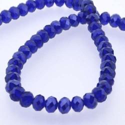 Perle de verre Cristal ronde 12mm, bleu très foncé