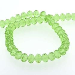 Perle de verre Cristal ronde 12mm, vert clair