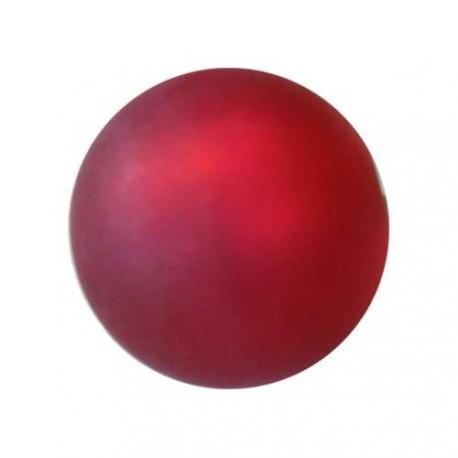 Perle Polaris fuschia, mat, ronde 10 mm - à l'unité