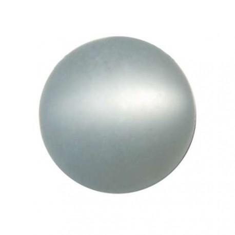 Perle Polaris gris perlé, mat, ronde 10 mm - à l'unité