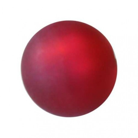Perle Polaris fuschia, mat, ronde 14 mm - à l'unité