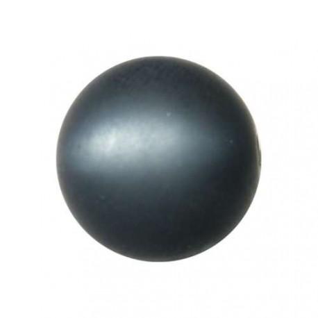 Perle Polaris anthracite, mat, ronde 14 mm - à l'unité